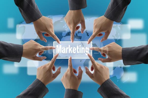 Мир маркетинга команда бизнеса команде Сток-фото © vichie81