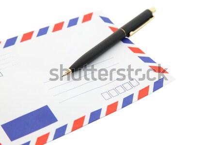 Schrijven mail perspectief hand adres lucht Stockfoto © vichie81