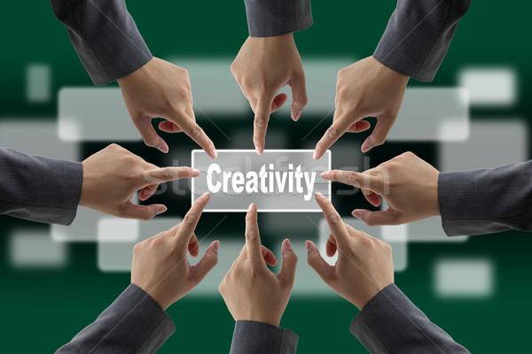 бизнес-команды рук вместе Сток-фото © vichie81