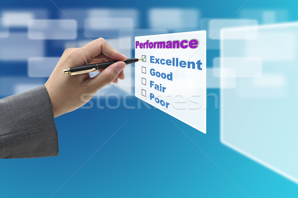 Stock photo: Excellent Performance Audit