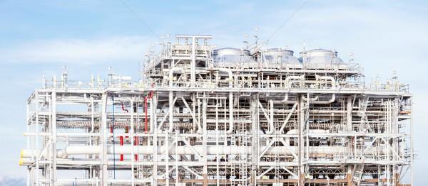 Panoráma finomító növény földgáz gyár raktár Stock fotó © vichie81