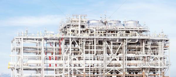 Panorama refinaria planta fábrica armazenamento Foto stock © vichie81