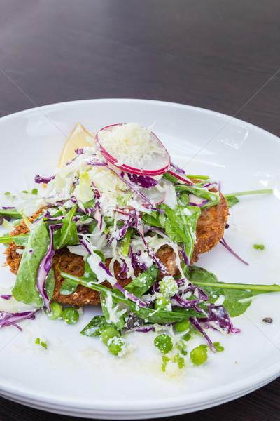 Salada de frango profundo frango assado peito salada comida Foto stock © vichie81