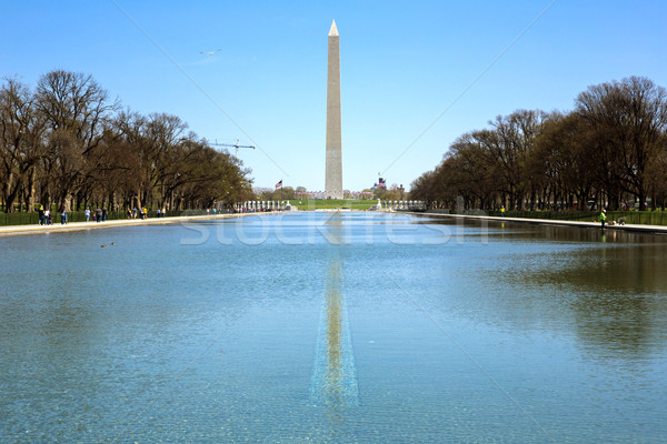 Washington Monument in new reflecting pool Stock photo © vichie81