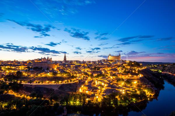 Toledo Cityscape at dusk Stock photo © vichie81