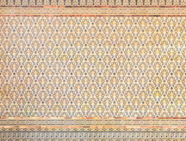 Királyi gótikus csempe fal textúra klasszikus Stock fotó © vichie81