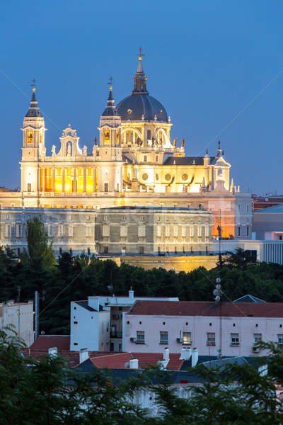 Almudena Cathedral Madrid Stock photo © vichie81