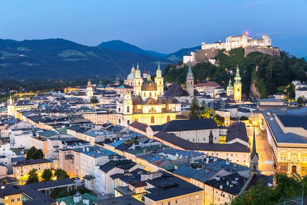 Austria anochecer hermosa vista histórico ciudad Foto stock © vichie81