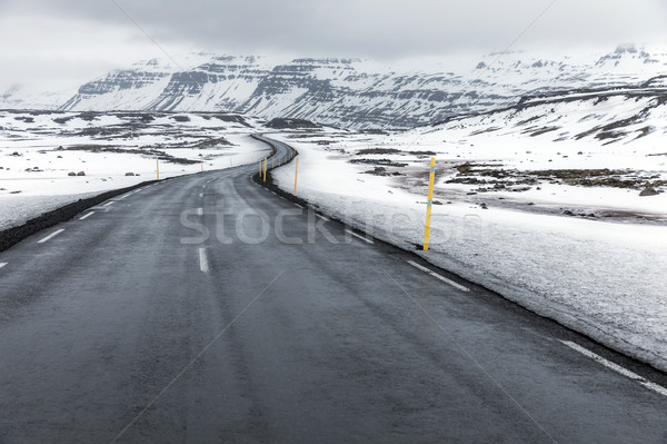 Iceland Winter landscape Road Stock photo © vichie81