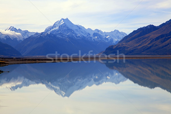 mount cook at lake pukaki Stock photo © vichie81