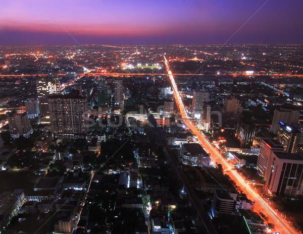 バンコク 道路 道路 建物 市 1泊 ストックフォト © vichie81
