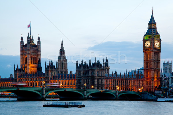 Big Ben westminster Londres Angleterre tour maison Photo stock © vichie81