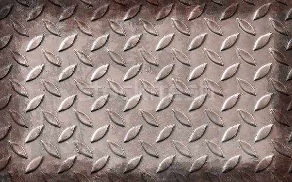 grunge aluminum plate metal texture and background Stock photo © vichie81