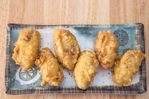 Frango assado gergelim prato frango comer rápido Foto stock © vichie81