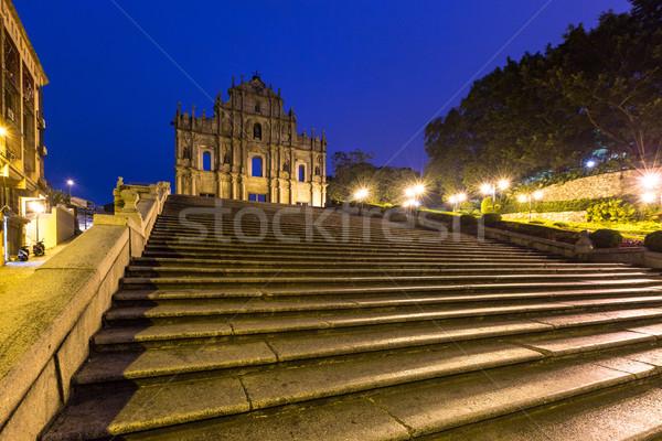 Macau Ruins of St. Paul's Stock photo © vichie81