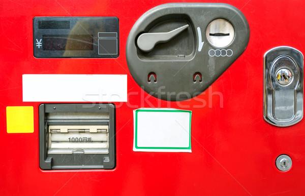 Automaat munt bankbiljet textuur bank kleur Stockfoto © vichie81
