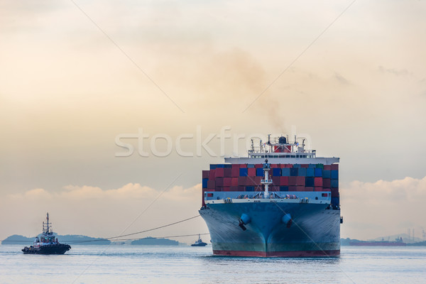Industrial port container ship Stock photo © vichie81