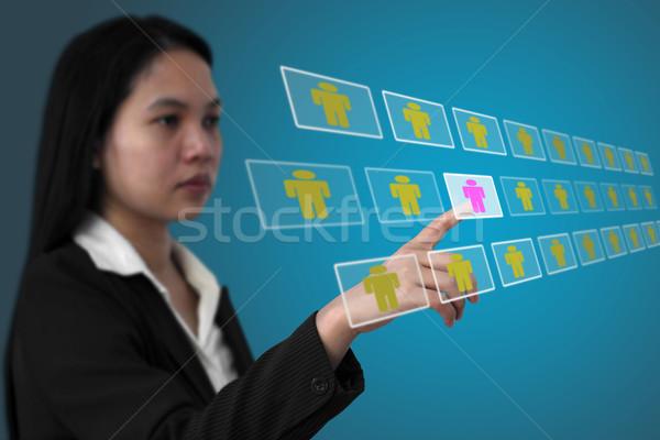 Foto stock: Reclutamiento · Asia · mujer · de · negocios · persona · Internet