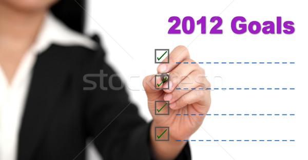 2012 gol liste Asya iş kadını yazı Stok fotoğraf © vichie81