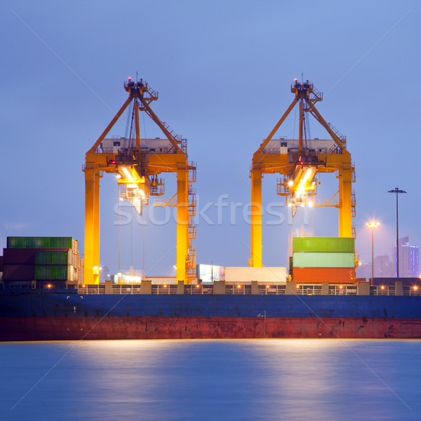Goods and Logistic background Stock photo © vichie81