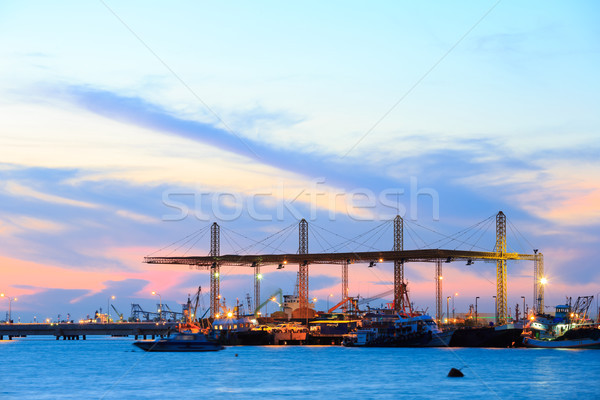 Port at dusk Stock photo © vichie81