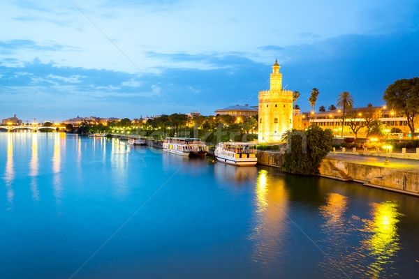 Golden Tower Seville Spain Stock photo © vichie81