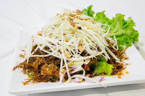 Picante pato ensalada vegetales alimentos carne Foto stock © vichie81