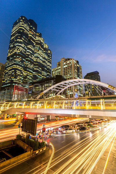 Bangkok downtown skylines Stock photo © vichie81