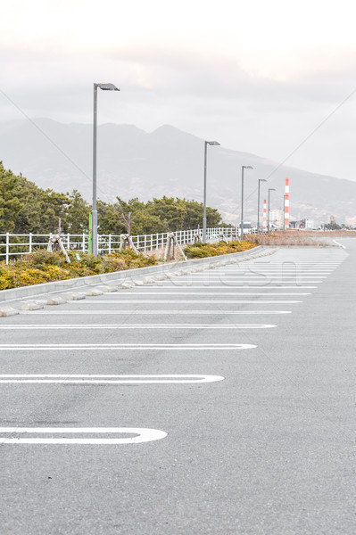 空っぽ 駐車場 屋外 駐車場 道路 塗料 ストックフォト © vichie81