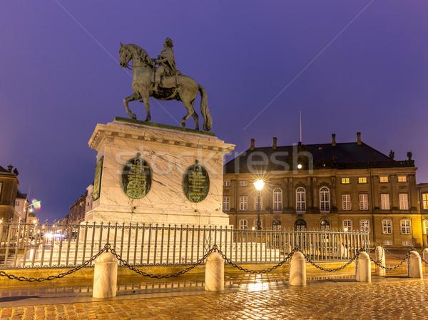 Dinamarca real família cidade praça Copenhague Foto stock © vichie81