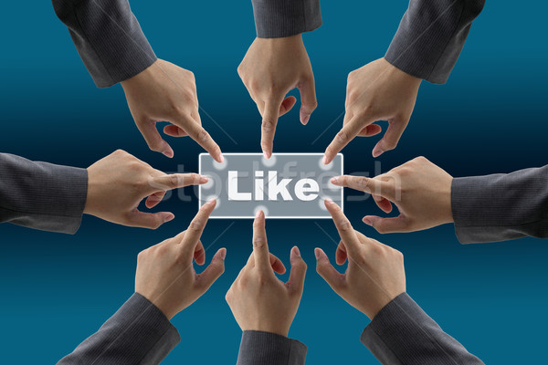 like button teamwork Stock photo © vichie81