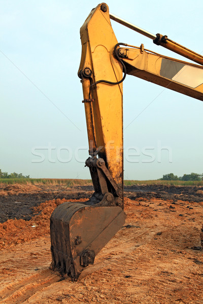 part of Excavator Loader with backhoe Stock photo © vichie81