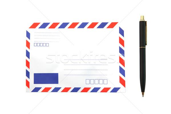 Envelop pen geïsoleerd lucht mail hemel Stockfoto © vichie81