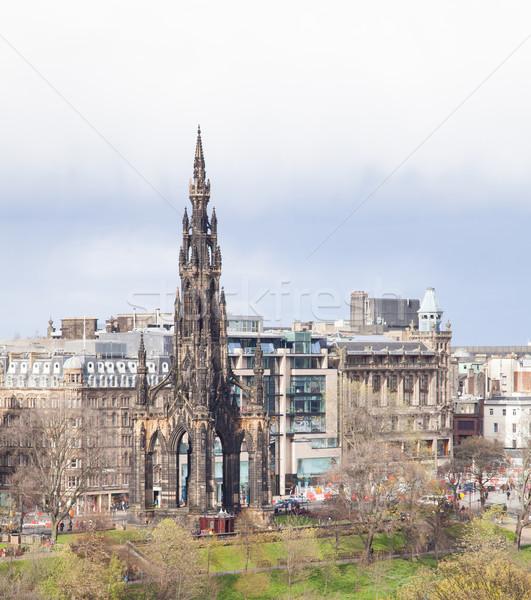 Edinburgh monument Scotland Stock photo © vichie81