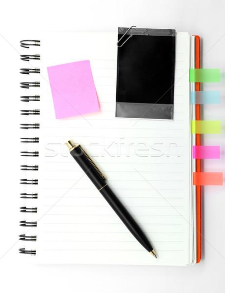 кольца книга пер бизнеса служба Сток-фото © vichie81