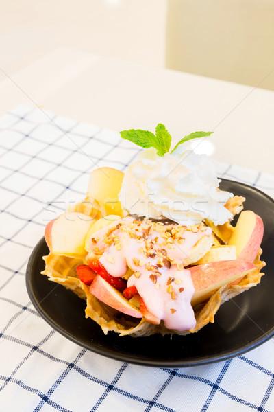 サンデー トロピカルフルーツ 食品 フルーツ 夏 氷 ストックフォト © vichie81
