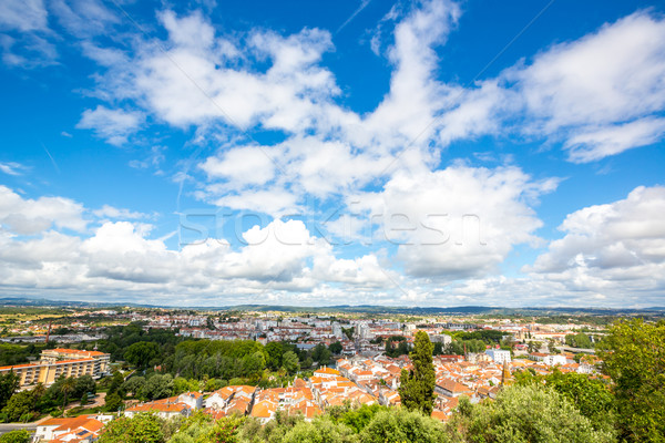 Stockfoto: Oude · binnenstad · Portugal · luchtfoto · zomer · kerk · reizen