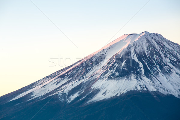 Montanha fuji nascer do sol Japão inverno água Foto stock © vichie81