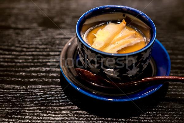 Gestoomd ei japans boter gegrild cake Stockfoto © vichie81