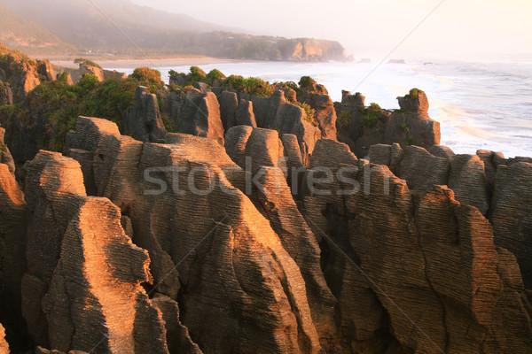 Pancake grand canyon rock at west coast beach New Zealand Stock photo © vichie81