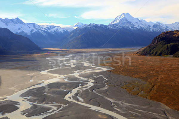 Tasman glacier mount cook Stock photo © vichie81