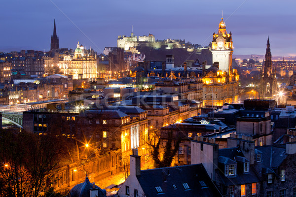 Edinburgh Skylines building and castle Scotland Stock photo © vichie81