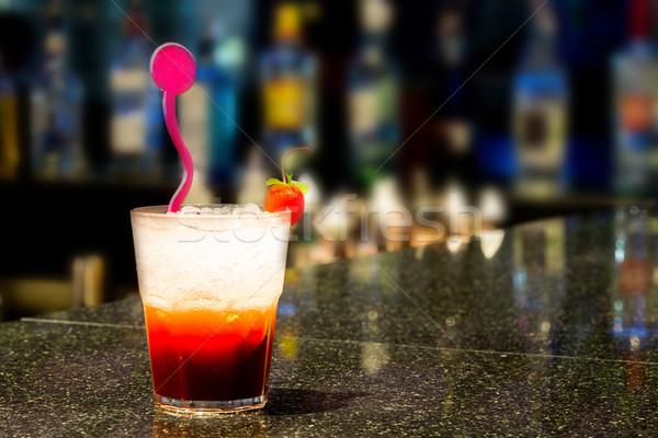Gelado coquetel copo bar comida vidro Foto stock © vichie81