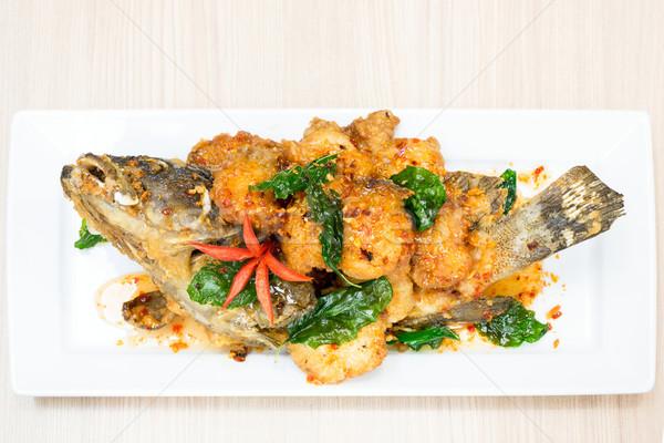Mély sült hal édes fanyar fűszeres Stock fotó © vichie81