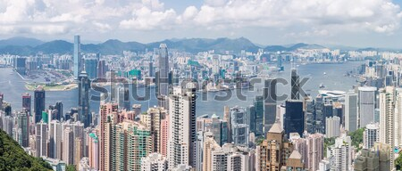 Hong Kong Skyline Stock photo © vichie81