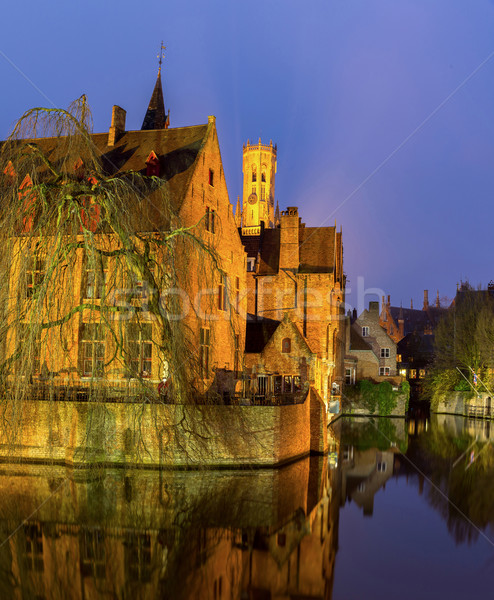Bruges, Belgium at dusk. Stock photo © vichie81