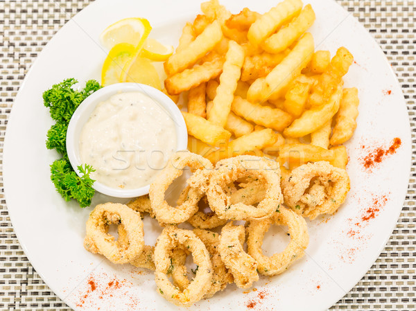 fried calamari Stock photo © vichie81