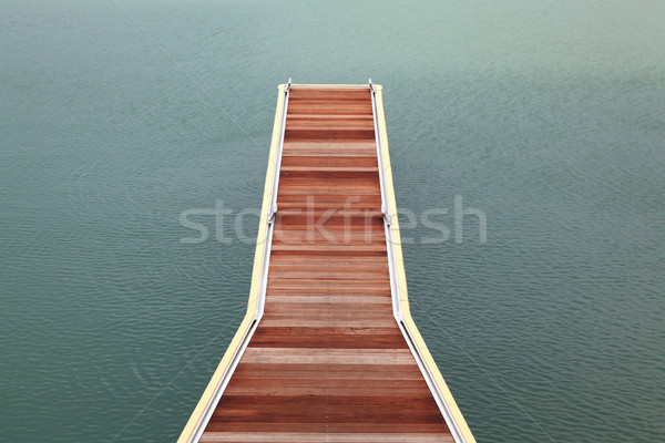 wooden jetty walkway Stock photo © vichie81