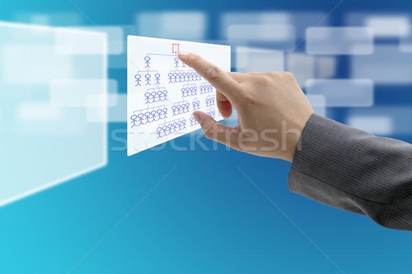 Ceo recrutamento homem mão tocar Foto stock © vichie81