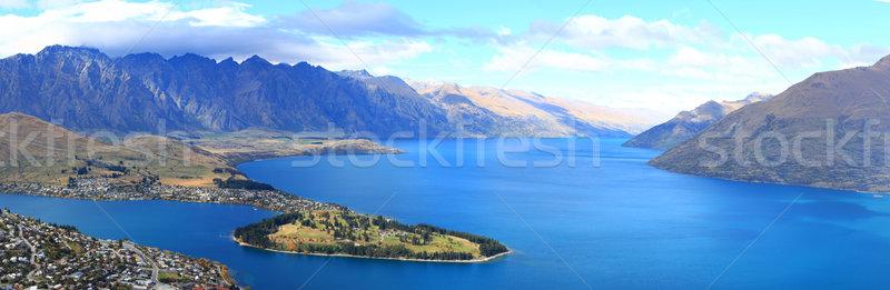 panorama of lake Wakatipu and Queenstown downtown skyline, New Z Stock photo © vichie81